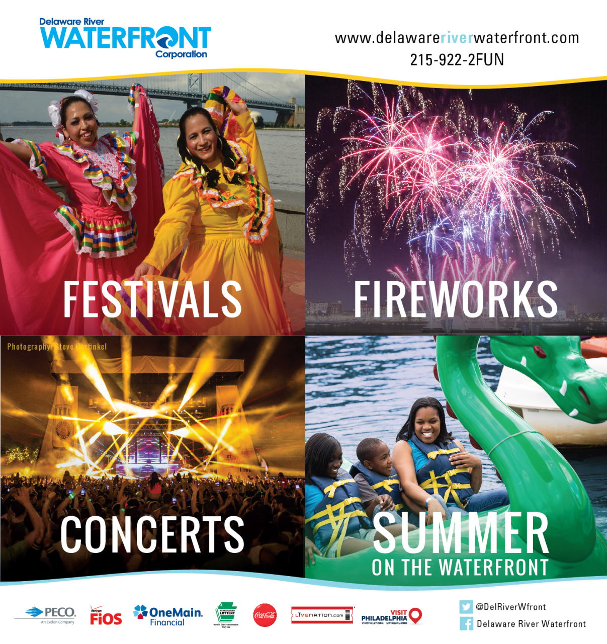 Photo taken at Festival Pier used by the Delaware River Corporation for a city-wide ad campaign