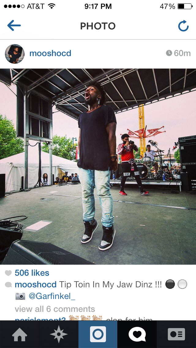 Moosh from Philadelphia based rap group OCD: Moosh & Twist sharing my photo taken at Made in America Festival.