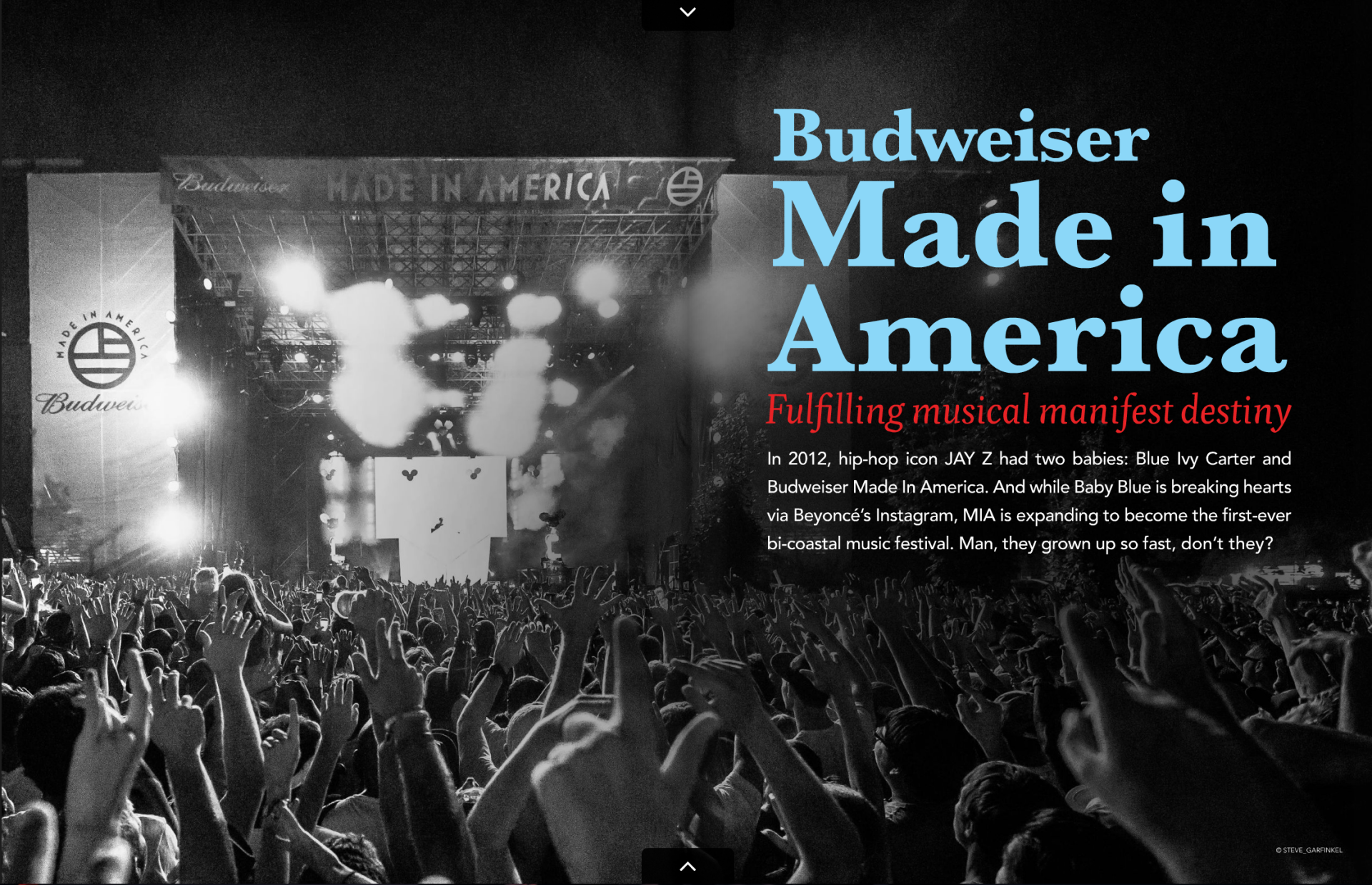 Photo of Deadmau5 from Made in America Festival 2013 used for a two page spread
