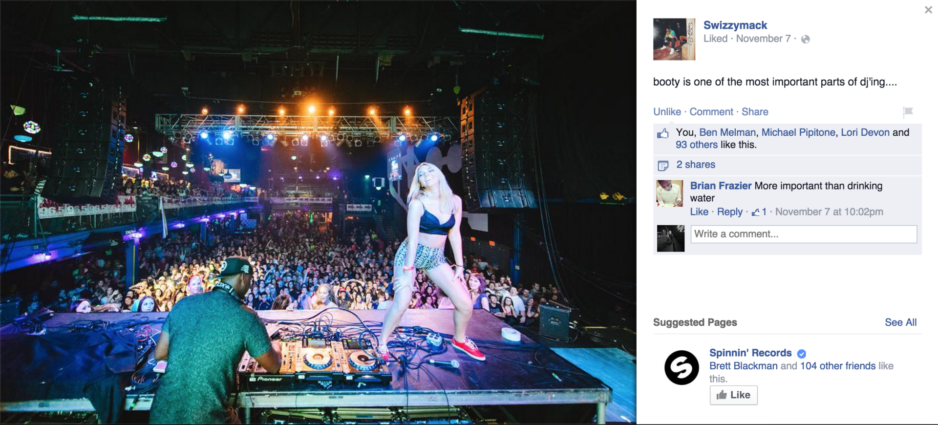 Swizzymack sharing my photo from the Electric Factory.