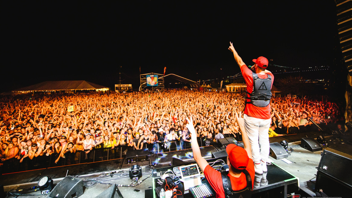 Flosstradamus at the 2015 Mad Decent Block Party Philadelphia